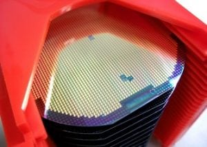 Silicone wafers in a carrier